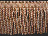 FT530 75mm Ecru,Dusky Pink,Green and Honey Gold Bullion Fringe - Ribbonmoon