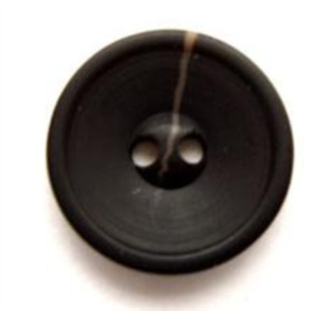 B9832 17mm Black Bone Sheen 2 Hole Button with a Beige Vein - Ribbonmoon