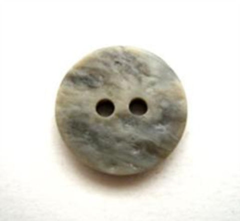 B10285 15mm Tonal Greys Textured Stone Effect 2 Hole Button - Ribbonmoon