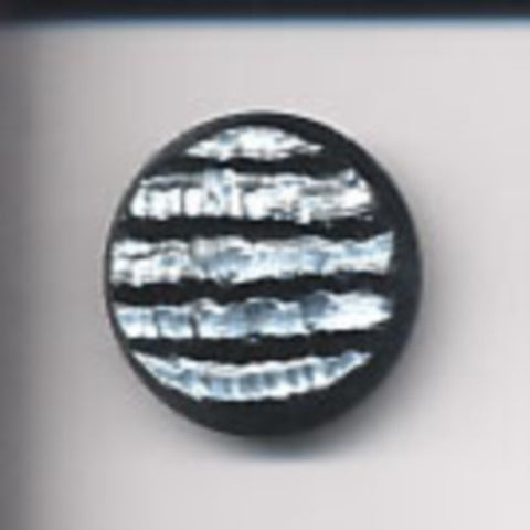 B6246 28mm Black and Shimmery Pearlised Grey Textured Shank Button - Ribbonmoon
