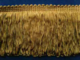 FT1477 76mm Deep Olive Gold Dense Looped Dress Fringe - Ribbonmoon