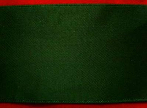R1926 37mm Holly Green Double Faced Satin Ribbon by Offray - Ribbonmoon