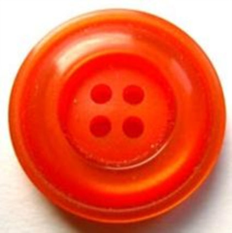 B17300 22mm Deep Orange Pearlised Surface 4 Hole Button - Ribbonmoon
