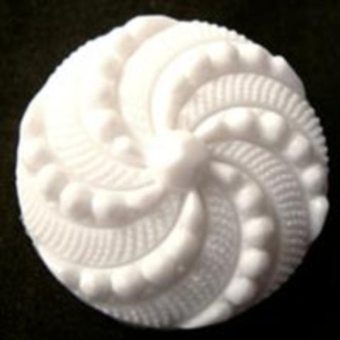 B12932 23mm White Textured Shank Button - Ribbonmoon