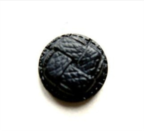 B10982 15mm Midnight Navy Leather Effect Shank Button - Ribbonmoon