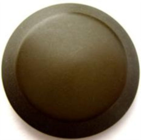 B15461 28mm Olive Green Soft Sheen Button on a Metal Shank