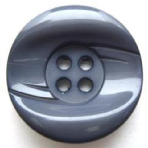 B5966 25mm Moonlight Blue Grey High Gloss 4 Hole Button - Ribbonmoon