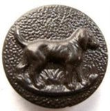 B5332 23mm Brown Dog Design Metal Based Shank Button - Ribbonmoon