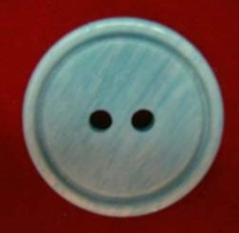 B18009 20mm Tonal Turquoise High Gloss 2 Hole Button - Ribbonmoon
