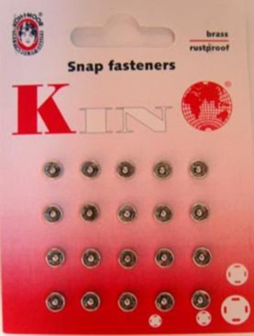 SF11 5mm Nickel Plated Brass Snap Fasteners. Size 000 - Ribbonmoon