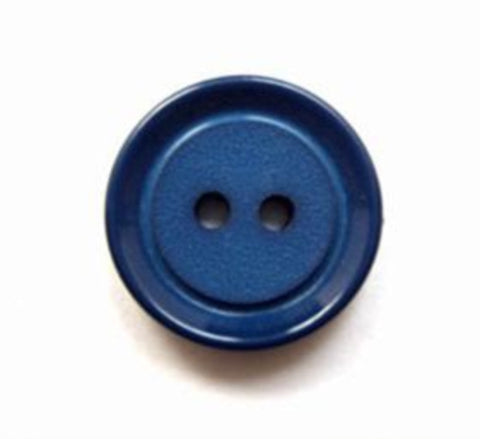 B16051 18mm Light Navy Matt Centre 2 Hole Button - Ribbonmoon