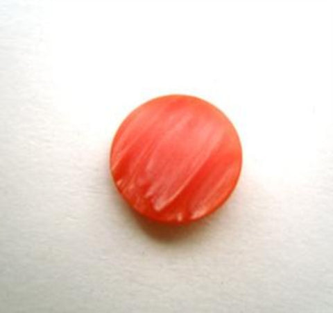 B14165 12mm Coral Iced and Semi Pearlised Shank button - Ribbonmoon