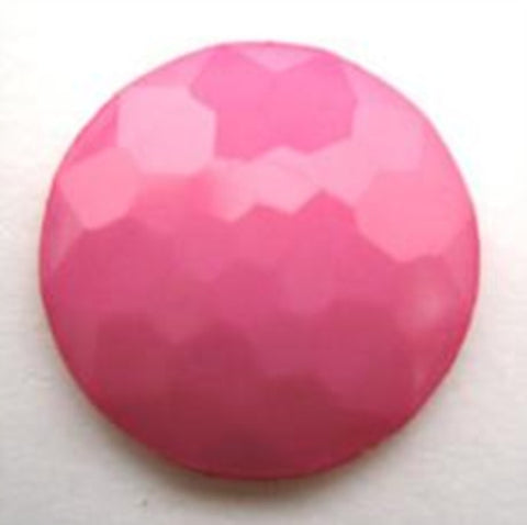 B14080 20mm Hot Pink Domed Honeycomb Shank Button - Ribbonmoon