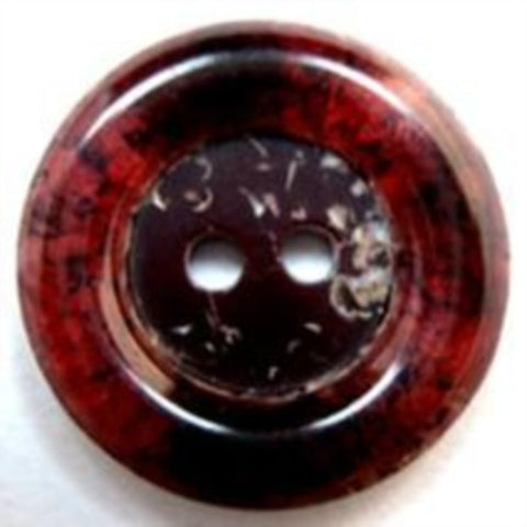 B16351 22mm Tonal Scarlet Berry Based 2 Hole Button - Ribbonmoon