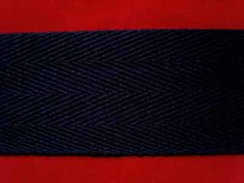 WTAPE14 38mm Navy Herringbone Twill Tape 100% Cotton Webbing - Ribbonmoon