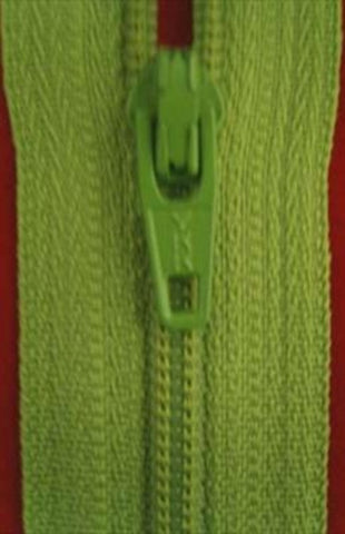 Z2663 YKK 16cm Dusky Lime Nylon No.3 Closed End Zip - Ribbonmoon