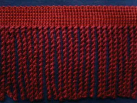 FT796 75mm Pale Burgundy and Russet Bullion Fringe - Ribbonmoon