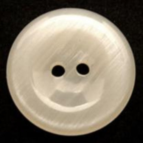 B9944 22mm Ivory Cream High Gloss 2 Hole Button