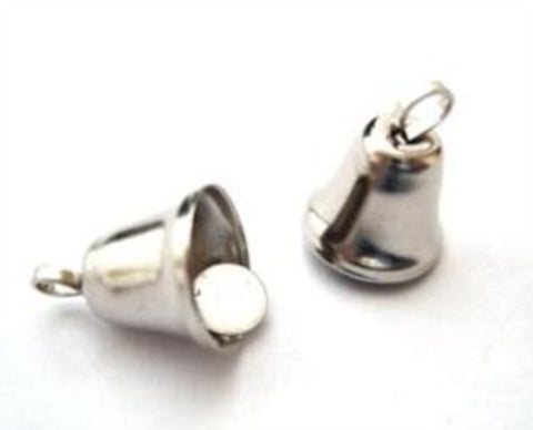 BELL09 10mm Silver Metal Liberty Bell - Ribbonmoon