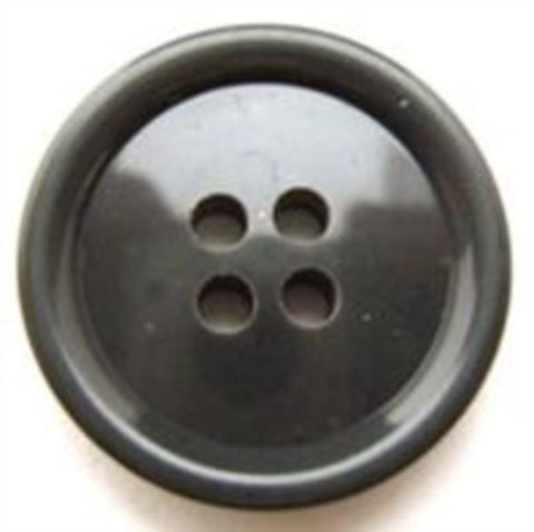 B10606 22mm Glossy Smoke Grey 4 Hole Button - Ribbonmoon