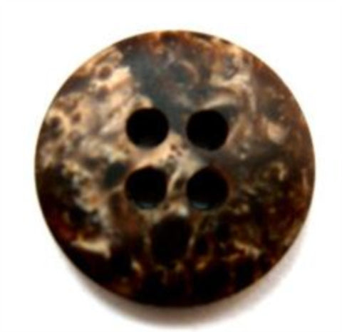 B16328 20mm Tonal Browns Shimmery 4 Hole Button - Ribbonmoon