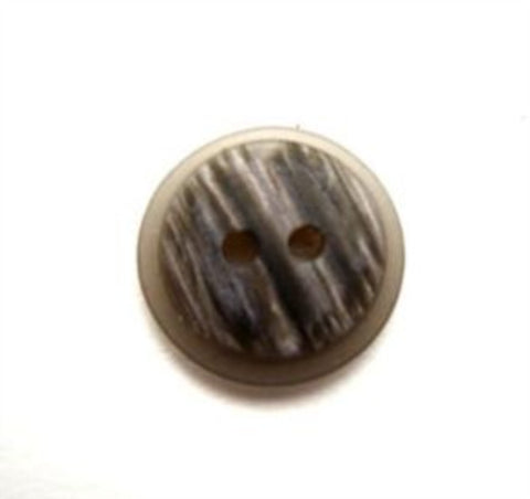B13518 15mm Mixed Greys Matt Stone Effect 2 Hole Button - Ribbonmoon