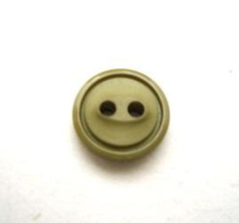 B10155 11mm Khaki Green 2 Hole Button - Ribbonmoon