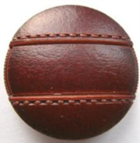 B17672 25mm Chestnut Brown Leather Effect Shank Button