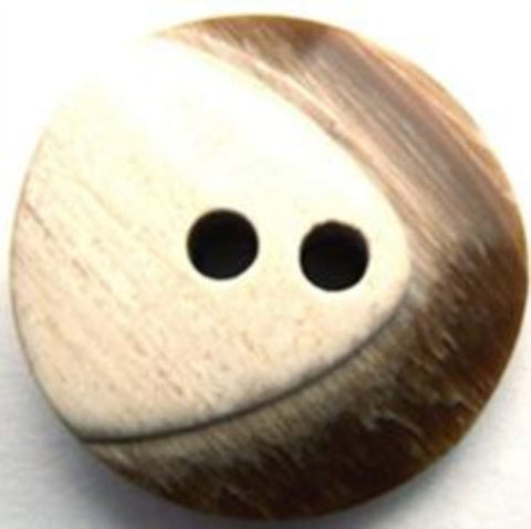 B11652 25mm Frosted Light Brown Chunky 2 Hole Button - Ribbonmoon