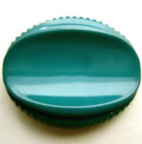 B14384 25mm Jade Green Gloss Oval Shank Button - Ribbonmoon