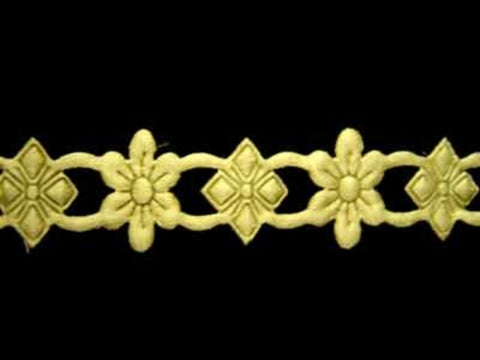 DT45 20mm Primrose Lightly Padded Daisy Trim - Ribbonmoon