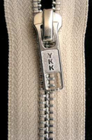 Z4815 91cm Pale Beige YKK Metal Teeth No.5 Open End Zip - Ribbonmoon