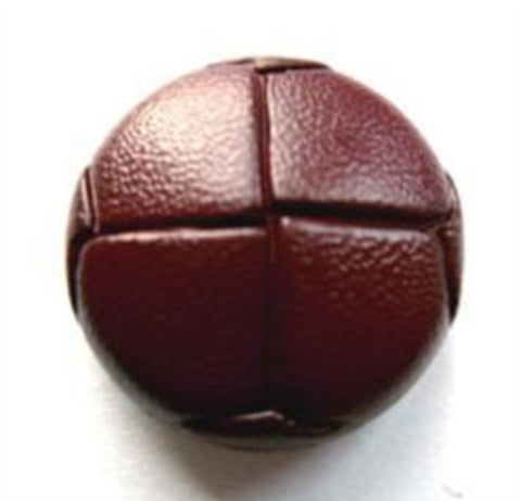 BROWN LEATHER LOOK FOOTBALL BUTTONS 15mm 20mm
