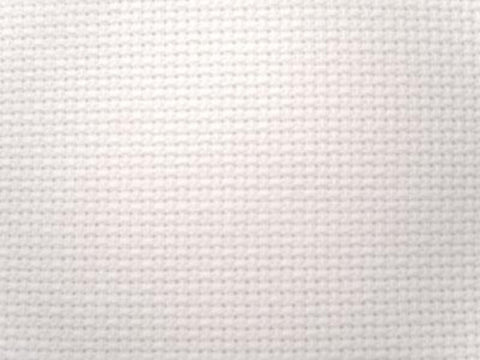 Aida 100% Cotton Needlework Fabric, White 14 Count, 25cm x 33cm - Ribbonmoon