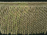 FT1997 20cm Khaki, Hush Green and Natural Cream Bullion Fringe - Ribbonmoon