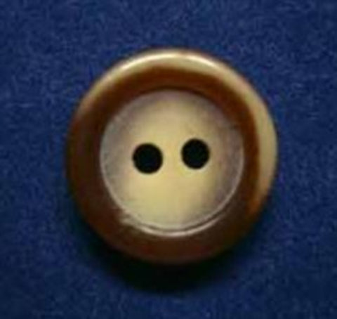 B3131 15mm Brown and Cream Aaran Chunky 2 Hole Button - Ribbonmoon