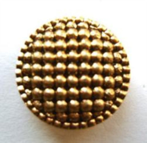 B8380 19mm Gilded Gold Poly Shank Button, Domed and Textured - Ribbonmoon