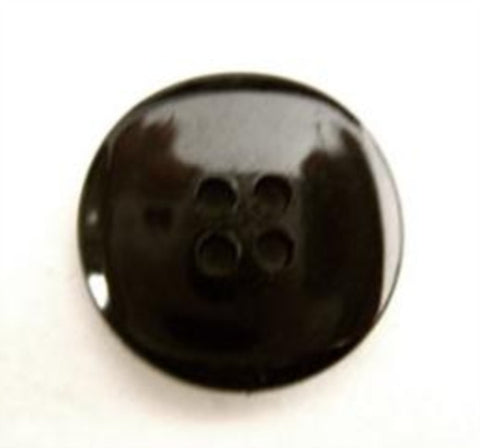 B15894 19mm Black High Gloss 4 Hole Button - Ribbonmoon
