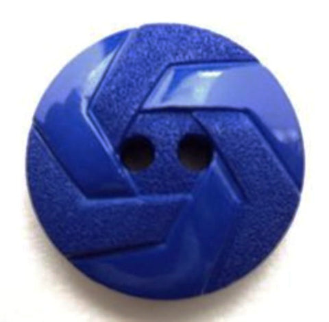 B12640 21mm Royal Blue Gloss and Matt Textured 2 Hole Button - Ribbonmoon