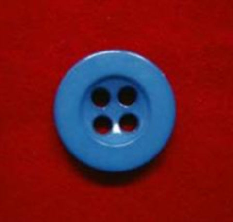 B4065 12mm Dusky Blue Gloss 4 Hole Button - Ribbonmoon