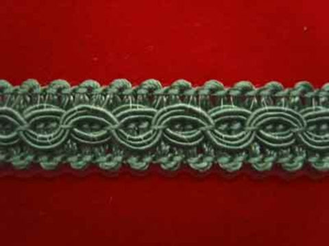 FT1065 13mm Deep Linden Green Corded Braid Trimming - Ribbonmoon