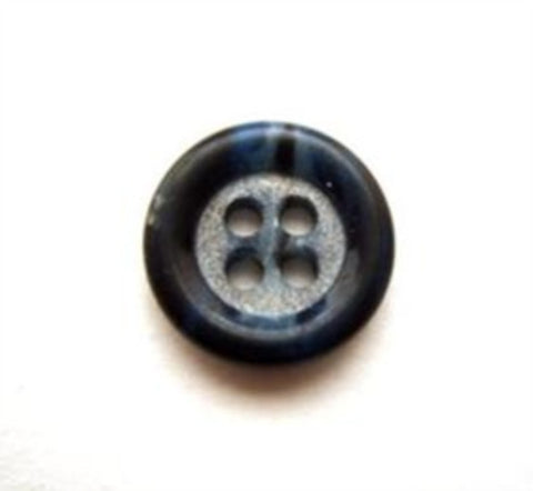 B11335 14mm Frosted Tonal Navy 4 Hole Button - Ribbonmoon