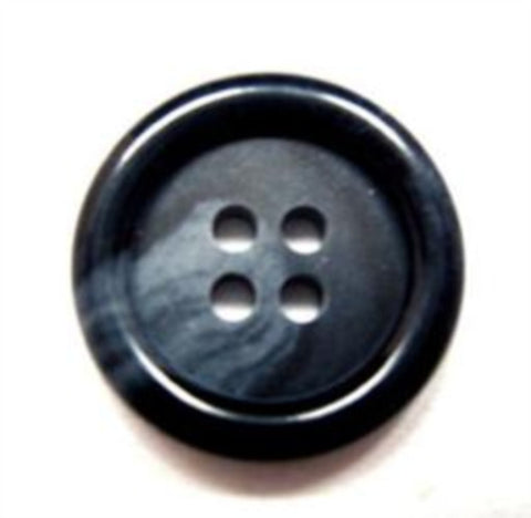 B15809 19mm Navy and Blue 4 Hole Button - Ribbonmoon