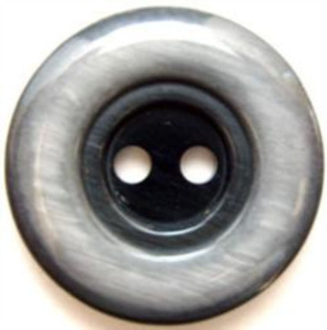 B5046 26mm Frosted Greys High Gloss 2 Hole Button - Ribbonmoon