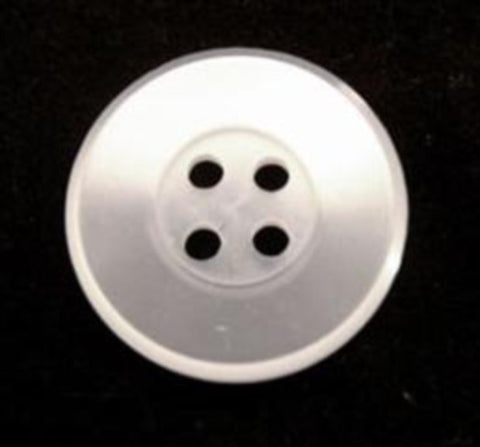 B10798 19mm Bridal White Pearlised Polyester 4 Hole Button - Ribbonmoon