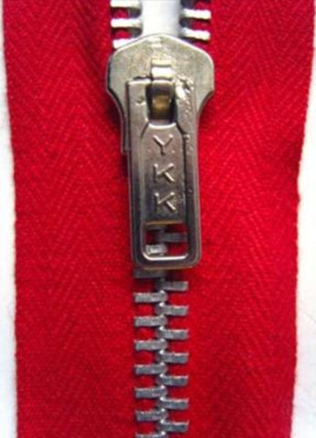 Z1818 25cm Red YKK Metal Teeth No.5 Open End Zip - Ribbonmoon