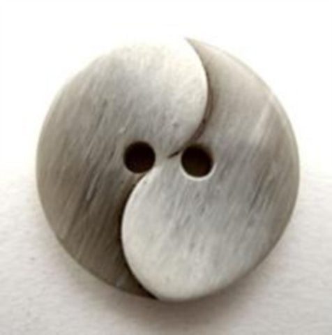 B12105 20mm Frosted Grey 2 Hole Button - Ribbonmoon