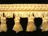 FT560 6cm Golden Butter Tassel Fringe on a Decorated Braid - Ribbonmoon