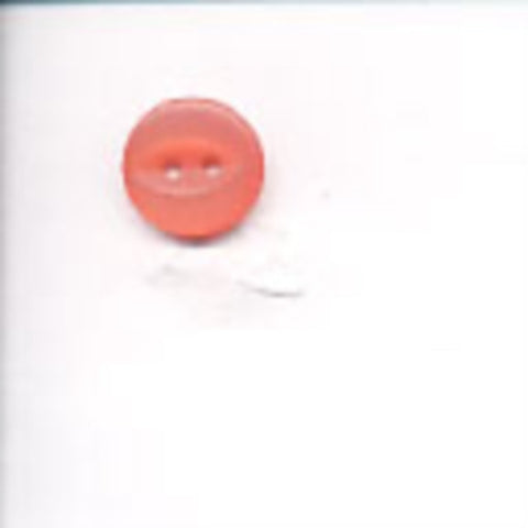 B10156 11mm Coral Pink 2 Hole Polyester Fish Eye Button - Ribbonmoon