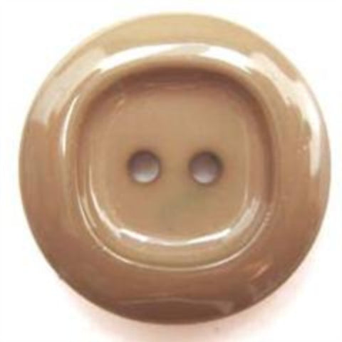B5232 25mm Fawn Beige High Gloss 2 Hole Button - Ribbonmoon